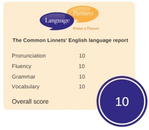 The Common Linnets' English language report