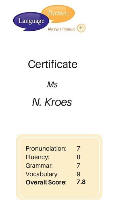 Certificate Neelie Kroes