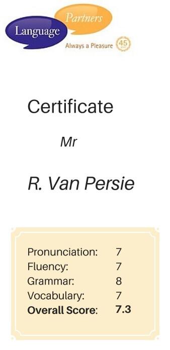 Certificate Robin van Persie
